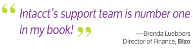 Intacct Service Support