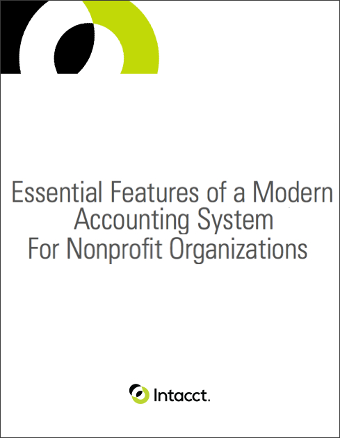 Grants management - white paper - Essential Features of a Modern Accounting System for Nonprofit Organizations