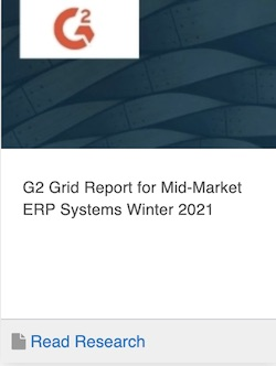 G2 Leader ERP Systems Mid-Market