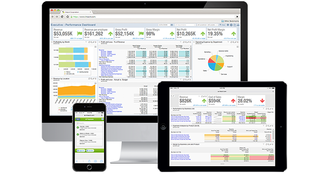 Online financial software - view a short demo of Intacct ERP system
