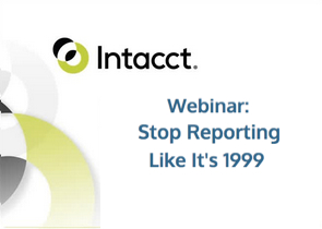 Financial analysis and reporting - watch the on-demand webinar, Stop Reporting Like It's 1999