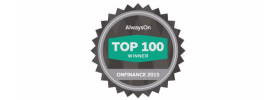 2015 OnFinance Top 100 List Logo