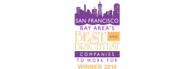 San Francisco Bay Area's Best and Brightest Companies to Work For Winner 2014 Logo