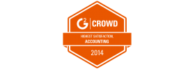 G2 Crowd 2014 Highest Satisfaction in Accounting