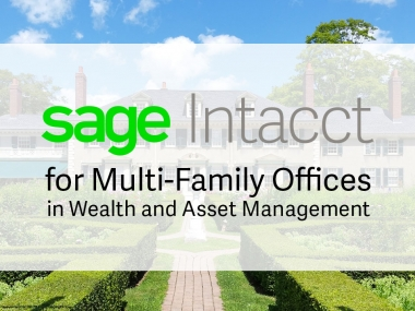 Sage Intacct for Multi-Family Offices